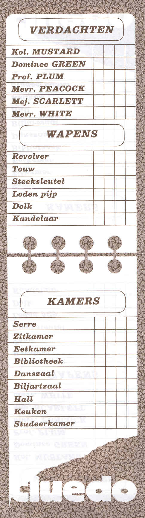 Gallery For gt Clue Game Sheets Pdf